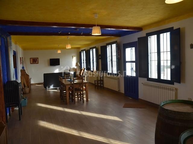 Vista del comedor y el salón