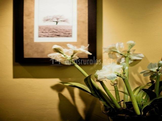 Detalle con flores