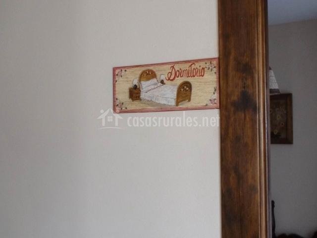 Placa del dormitorio