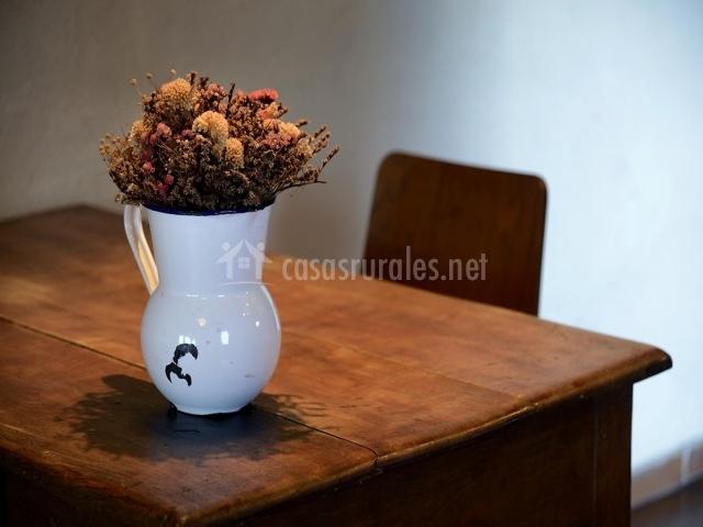 Detalle en la mesa