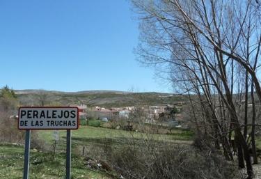 Zona de entrada señalizada a Peralejos