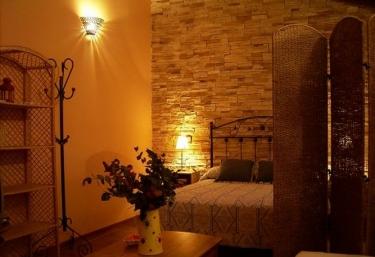 Salon y dormitorio comunicados