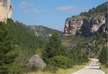 Zona de carretera a la llegada a Peralejos