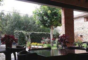 Vistas del porche en el exterior de la casa