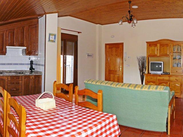 Salón y cocina de la Suite