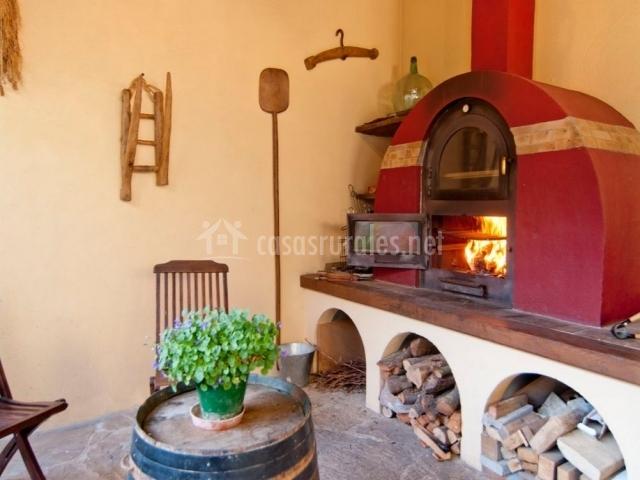 Casa rural el pajar casas rurales en orisoain navarra - Chimenea horno de lena ...