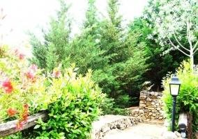 Escaleras hacia la Casa Rural