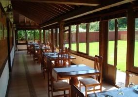 Restaurante en la zona acristalada