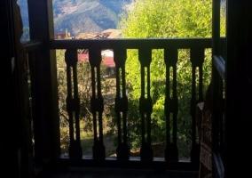 Terraza con muebles y vistas
