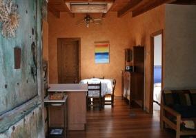 Sala de estar desde la puerta