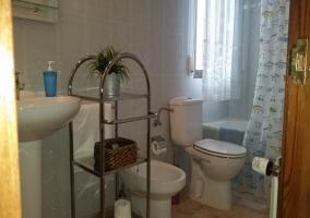 Baño de la habitación rosa