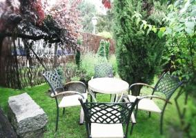 Jardín casa para dos