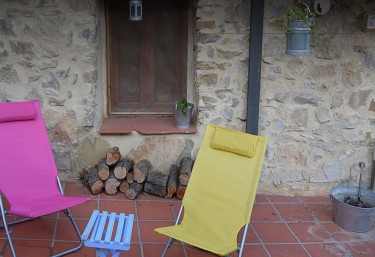 Patio with firewood
