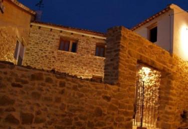 Illuminated facade at night