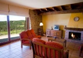 Terraza de la casa con muebles de exterior
