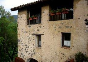 Fachada y balcones