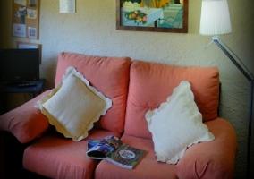 Sofá y televisión