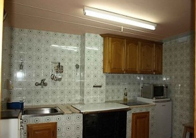 Parte frontal de la cocina