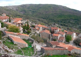 Vista del castillo de Trevejo