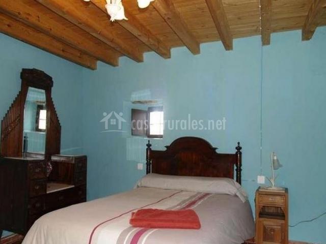 Dormitorio matrimonio azul