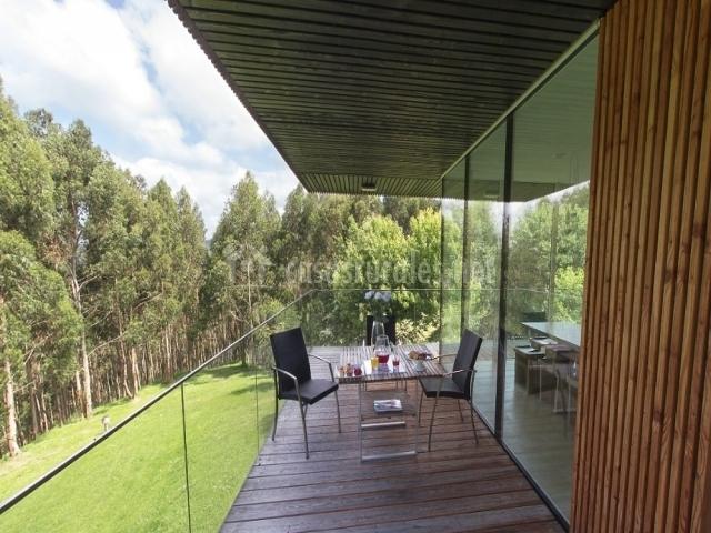 Terraza del balcón