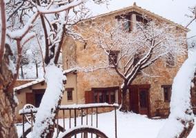 La casa totalmente nevada