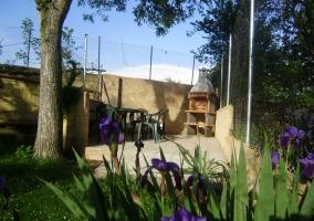 Jardín con cesped