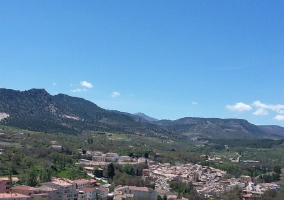 Vistas del pueblo desde lejos