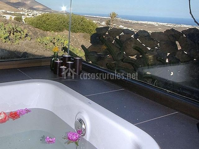 Bañera con cristaleras
