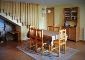 Comedor y acceso habitaciones