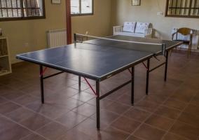 Hay una mesa de ping-pong