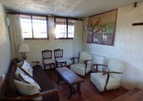 Sala de estar a doble altura