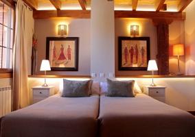 Dormitorio con 2 camas sencillas