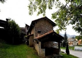 Vista del porche de la casa