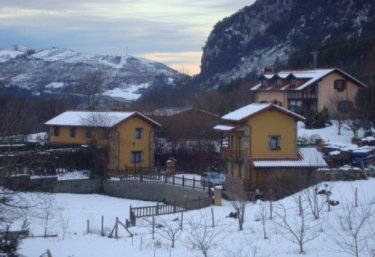 General view of the snow-covered accommodation