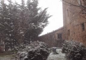 El jardín nevado