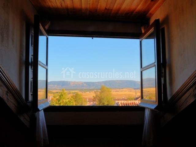 Vistas desde la ventana de un dormitorio