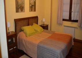 Dormitorio doble con calefacción