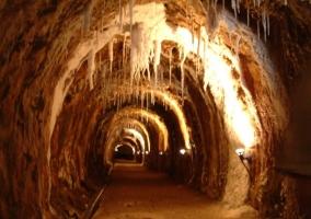 Interior de la mina de la sal