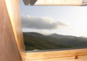 Vistas desde el desván de la casa rural