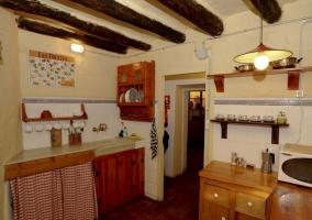 Cocina de la casa tradicional