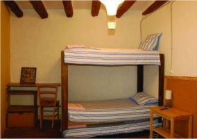 Dormitorio triple con literas