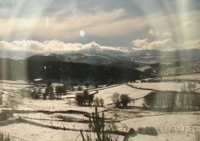 Vistas de los prados nevados