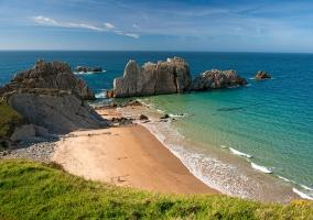 Playa Portío en Cantabria