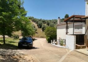 Vista lateral de la vivienda