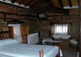 Dormitorio de original decoración