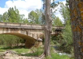 Zona del puente que cruza el río