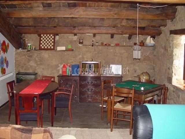 Sala de juegos de la casa rural