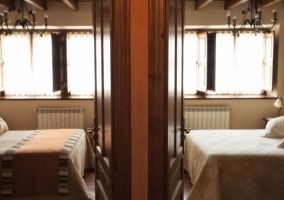 Dormitorios de matrimonio contiguos