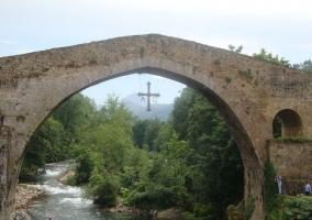 Zona del puente romano en Cangas